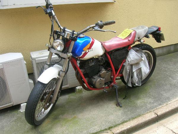 放置不動バイク(ホンダ・FTR)の無料回収