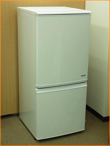 シャープ 冷蔵庫 SJ-C14B-W